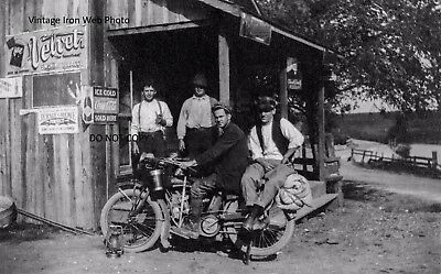 Vintage Indian Motorcycle Coca Cola 8x10 Photo Reprint High Quality!