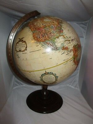 "Vtg Replogle 12"" Diameter Globe World Classic Series Raised Relief Topographical"