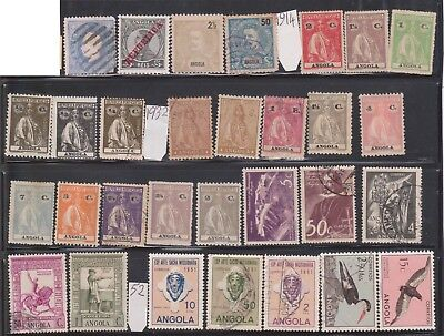 (K46-22) 1894-1953 Angola Portugal mix of 46 stamps 2a.50 (A)
