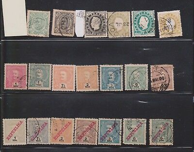 (K46-15) 1881-1925 India Portugal mixed 37 stamps valued to 2T (A)