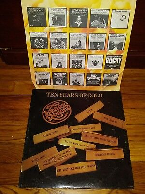 "KENNY ROGERS-Original Greatest HITS LP-""Ten Years Of Gold""-Stereo-1976-NM"