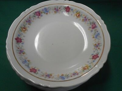 """Magnificent HARMONY HOUSE """"Lucerne"""" by Bareuther Bavaria Germany-6 SOUP BOWLS"""