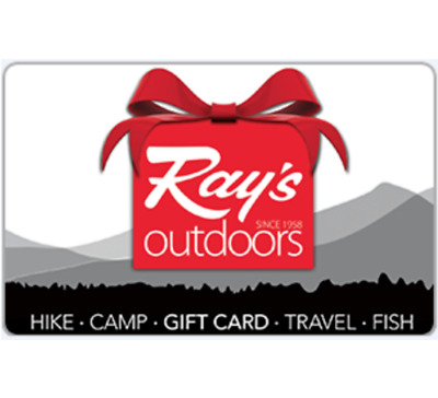 Ray's Outdoors Gift Card $20 $50 or $100 - Fast Email Delivery