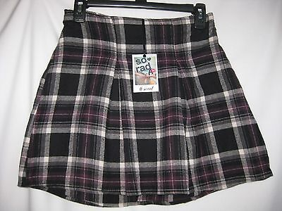 "Junior Flannel Skirt Size- S [W.26-30""] Black Plaid   85% Off Msrp $36.00 New"
