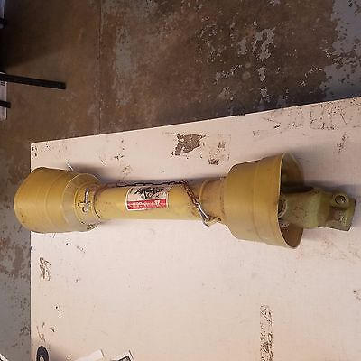 """PTO shaft for spreaders etc (weathered) 29"""" collapsed- 1-3/8"""" 6 spline both ends"""