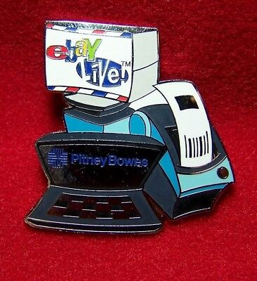 eBay Live Pitney Bowes shipping center pinback pin computer scale printer