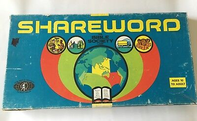 Shareword Bible Society of Australia Game - Vintage 1975 - Complete - Rare