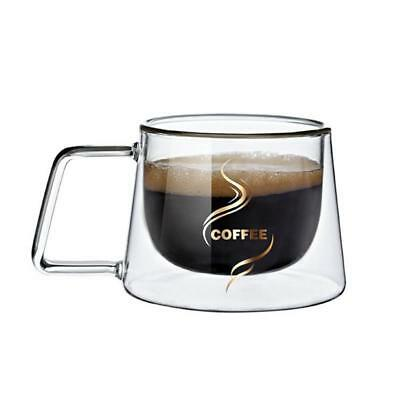 Coffee Mug Transparent Glass Heat Resistant Warm Cup Stirring Christmas Gift