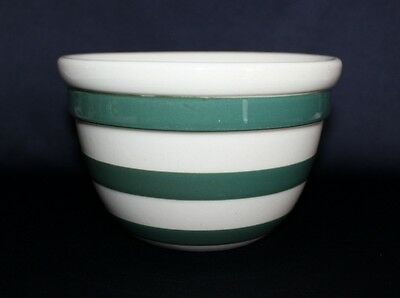 Vintage BAKEWELL'S Mixing Bowl Cream Glazing With Green Stripes Aust Pottery