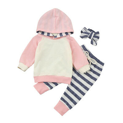 2017 Baby Boys Girls Clothes Hooded Tops Pants Infant Outfits Sets Tracksuit
