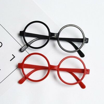 Childrens Kids Round Shape Black Or Red Glasses Frames Party Christmas Gifts