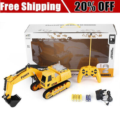 Remote Control Excavator Construction Toy Rc Caterpillar Truck Tractor Digger OE