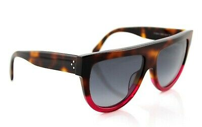 e234e8818a NEW Authentic CELINE SHADOW Ladies Havana Fuchsia Sunglasses CL 41026 S 23A  HD