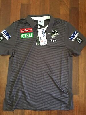 Collingwood Magpies 2017 ISC Coaches Media Polo Brand New Size L Others Avail