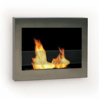 Anywhere Fireplace - SoHo Stainless Steel Wall Mount Fireplace