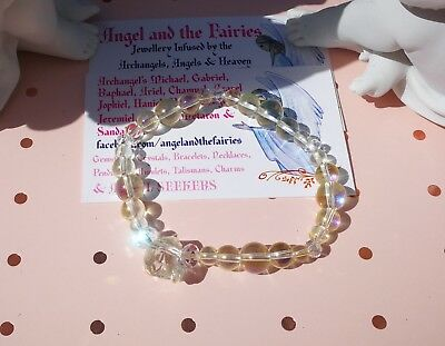 902 ANGELS of Positivity n Energy Angel Aura Bracelet Doreen Virtue Certified