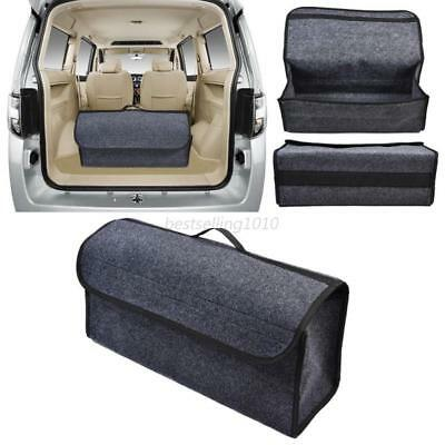 1PC Foldable Waterproof Gray Car Trunk Cargo Storage Box Bags Organizer Case