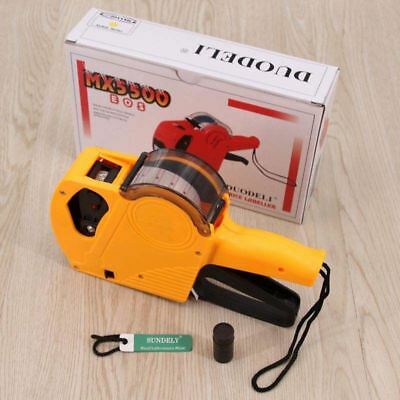 Yellow MX-5500 EOS 8 Digits Price Tag Gun Labeler Labeller + 1000 labels