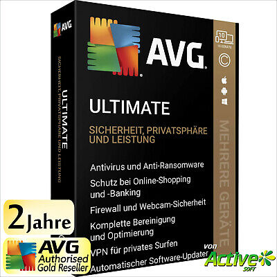 AVG ULTIMATE 2019 Unbegrenzte Geräte PC, Mac, Android | TuneUp Internet Security