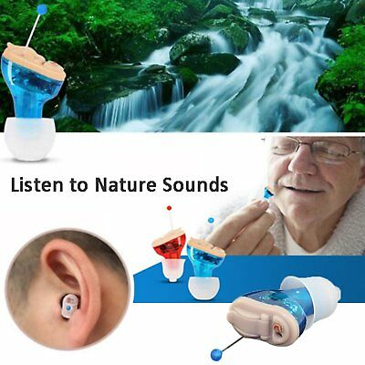 Mini Digital Invisible Hearing Aid CIC Left Right Small Voice Amplifier Enhancer