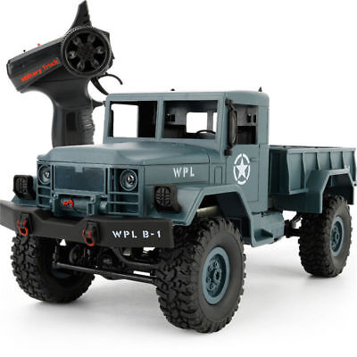 1:16 4WD RC Military Truck Off-Road Vehicle Car 2.4G Remote Control Crawler RTR