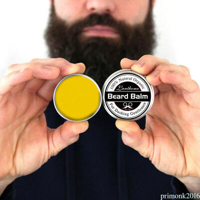Natural Beard Oil Balm Moustache Wax For Styling Beeswax Moisturizing New NS