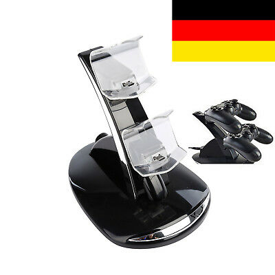 Ladestation für PS4 PS Sony Playstation Dock Charger LED Beleuchtung Controller