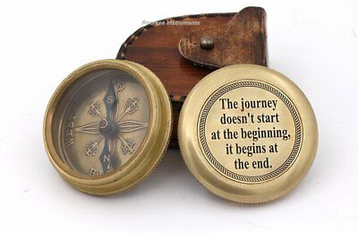 The Journey Doesn't Start At The Beginning It Begins At Brass Compass with Case