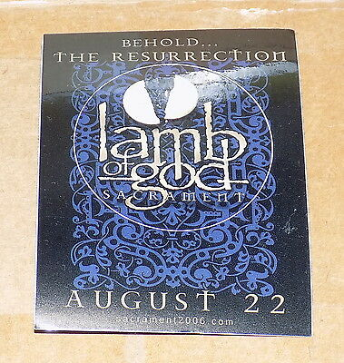 Lamb Of God Sacrament Behold The Resurrection 2006 Unholy Alliance Promo Sticker