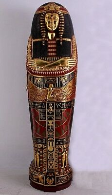 Egyptian Sarcophagus Statue  King or Queens of Egyptian Decor Art Furniture