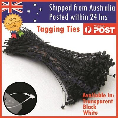 Zip Ties Tie Snap Loop Lock Pin Retail Label Tie Fastener Black White Transparen