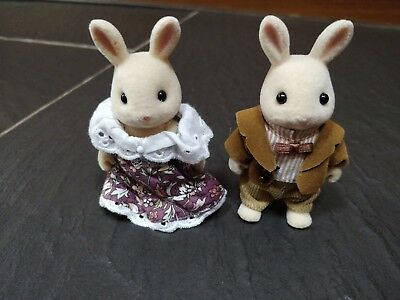 Sylvanian Families Milk Rabbit Grandparents Grandma & Grandad