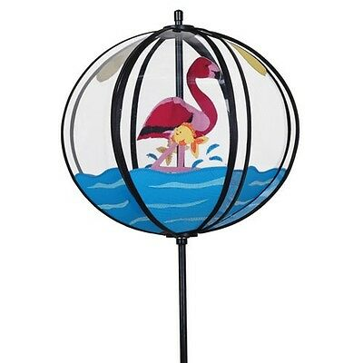 Girouette Flamant rose Eolienne déco jardin, wind spinner garden decor Windspiel