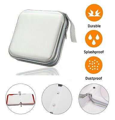 40 CD DVD Carry Case Disc Storage Holder CD Sleeve Wallet Ideal for Car SILVER