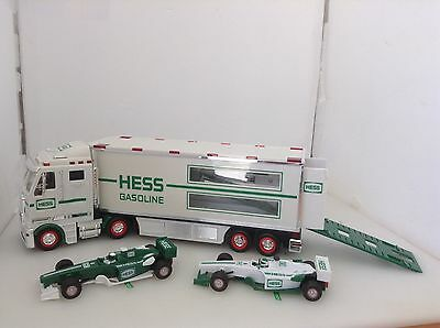 Vintage 2003 Hess Toy Truck And Race Car Mint Condition In Box              #290