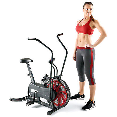 Marcy NS-1000 Fan Upright Exercise Bike with Air Resistance System