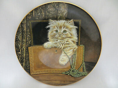 Purrfect Treasure Kitten Classics Collector Plate Royal Worcester Crown Ware