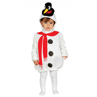 Cute Baby and Toddler Snowman Festive Kids Fancy Dress Christmas Costume