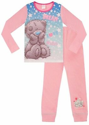 Girls Me To You Dream Love Tatty Teddy Snow flake Long Pink Pyjamas 6 TO 13 Yrs