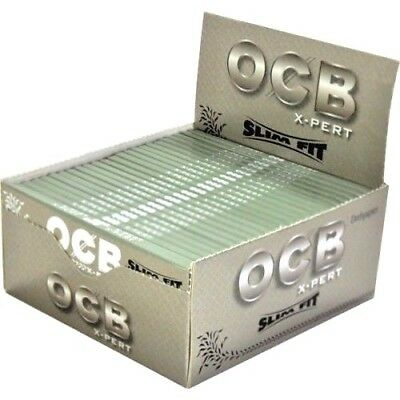 OCB Silver X-Pert Slim Fit King Size Smoking Premium Quality Rolling Papers P&P