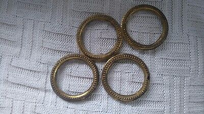 Victorian or French Brass Curtain Rings set of 4