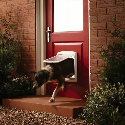 Large Dog Flap Extra Large XL 2 Way Door Gate Entrance Lockable Pet Wall Exit UK