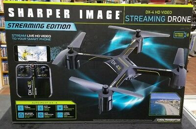 Sharper Image Rechargeable Dx 4 Hd Video Streaming Drone 3 Speed