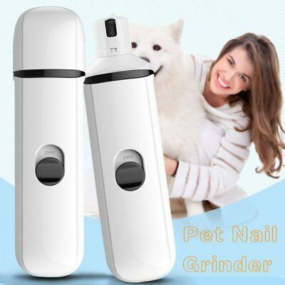 Pet Dog Cat Electric Nail Grinder Trimmer Clipper Grooming Kit Professional