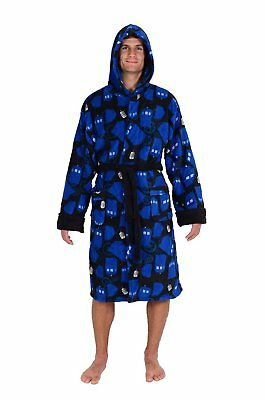 Doctor Who Tardis And Gears Repeat Pattern Fleece Robe (One Size)