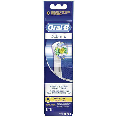 Braun Oral-B 3D White Electric Toothbrush Replacement Refill Brush Heads 5 Pack