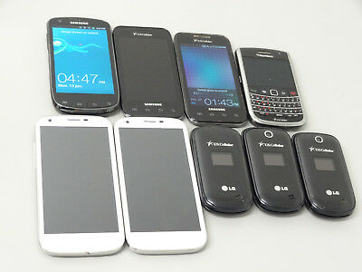 Lot of 9 U.S Cellular Smartphones & Cell Phones Mixed Brands & Models AS-IS