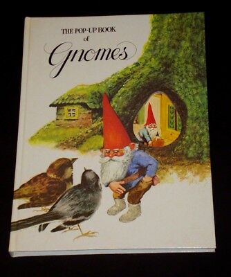 The Pop-Up Book of Gnomes Rein Poortvliet & Wil Huygan 1979 Hardcover  VGC