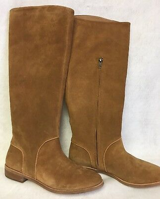 c69ccb0ae1f UGG AUSTRALIA DALEY Gracen TALL Suede Equestrian BOOTS Piping ...