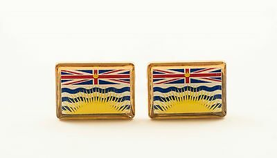 British Columbia Flag Cufflinks--Canada Canadian Province North American